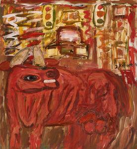 David Koloane, 'Bull in the city', 2016
