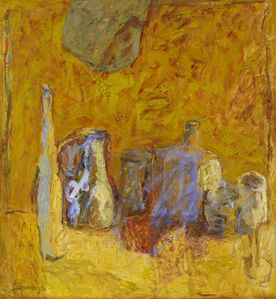 Elisabeth Cummings, 'Yellow still life', ca. 1990
