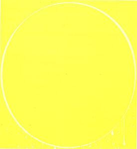 Ian Davenport, 'Oval yellow, lemon yellow, yellow', 2002