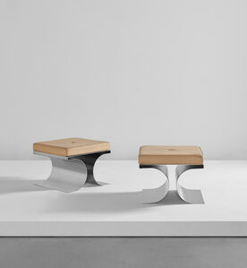 "Michel Boyer, 'Pair of ""X"" stools', circa 1968"