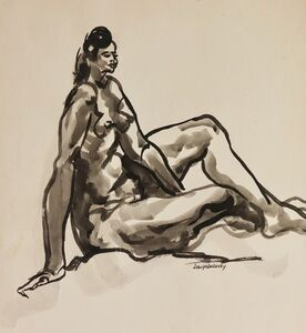 Joseph Delaney, 'Figure Study', ca. 1950