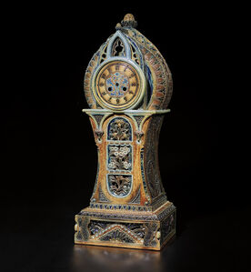 Martin Brothers, 'Exceptional and monumental mantel clock case', January 1878
