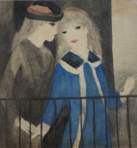 Marie Laurencin, 'Two Girls on a Balcony', 1910-1930