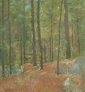 Soren Emil Carlsen, 'Pine Woods', ca. 1910-1920