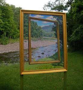 Kim Do, 'Gold Framed Painting (pictured in situ)', 2007