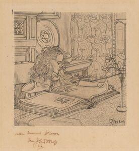 Jan Toorop, 'Charley Looking at an Album of Prints', 1898