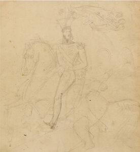 Antoine-Jean Gros, 'EQUESTRIAN PORTRAIT OF JOACHIM MURAT, 1812 / CHARLES QUINT RECEIVED BY FRANÇOIS IER AT THE ABBEY OF SAINT-DENIS', 1812