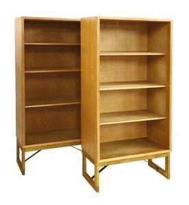Börge Mogensen, 'A pair of light oak open bookcases'