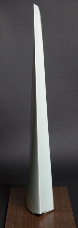 Sueharu Fukami, 'Kiyoki no omoi V (Pure Imagination V) (T-3786)', 2013, Sculpture, Porcelain with pale blue glaze on walnut base, Thomsen Gallery