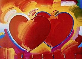 Peter Max, 'Two Hearts', 2001
