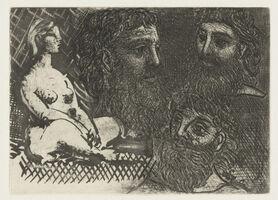 Pablo Picasso, 'Marie-Therese en idole et trois Grecs Barbus', 1934