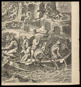 Pieter de Jode I, 'Iudic˜ uniuersalis paradigma Sacrae Scripturae testimonijs confirmatum : damned', 1726-1738