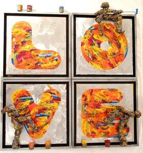Bernard Saint Maxent, '(ATH) Quadri Love (4 fois)', 2017