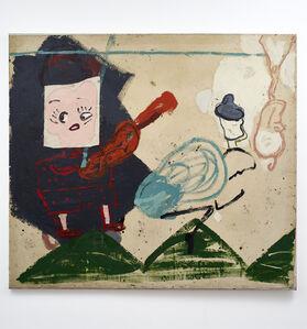Rose Wylie, 'Titian Tableau (Wolly Hat)', 1991-2016
