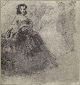 Constantin Guys, 'L'élègante Femme', Early 20th Century.