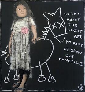 L.E.T., 'Sorry abut the streetart', 2018