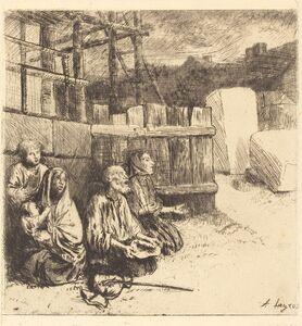 Alphonse Legros, 'English Beggars (Les mendiants anglais)', 1875