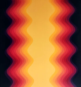 Cristina Ghetti, ''Orange Gradient' Acrylic on Canvas Kinetic Painting', 2020