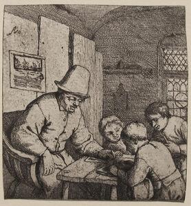 Adriaen van Ostade, 'The Schoolmaster (1st State)', ca. 1644