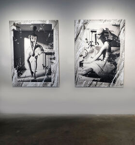 """Efren Isaza, '""""Seated Ballet"""" and """"Standing Ballet"""", Mixed Media mounted on aluminum', 2010"""