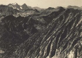 Ansel Adams, 'Mount Ritter and Banner Peak from Silver Pass, from Sierra Club Album', c.1929