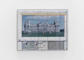 Christo, 'Wrapped Reichstag (project for Berlin), Platz der Republik, Brondenburger Tor, Spree', 1994