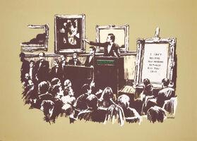 Banksy, 'Morons (Sepia, SIGNED)', 2008