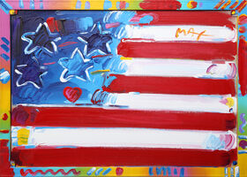 Peter Max, 'Flag with Heart', 1998