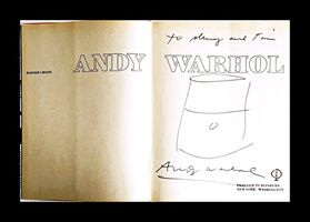 Andy Warhol, 'Original Soup Can Drawing, inscribed to Warhol pal and Rock & Roll hall of famer', ca. 1985