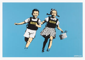 Banksy, 'Jack & Jill / Police Kids (Signed)', 2005