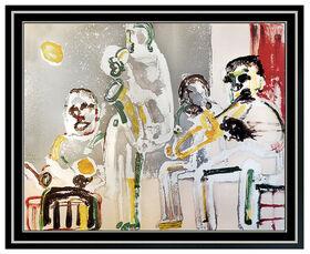 Romare Bearden Tenor Sermon Original Color Lithograph Signed Jazz Suite Artwork