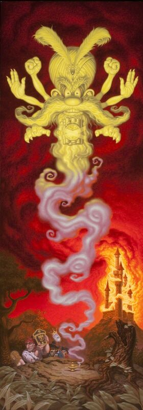 Todd Schorr, 'Nights on Fire', 2012, Print, Limited edition giclée on canvas, edition of 15, KP Projects