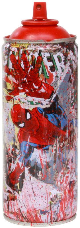 Mr. Brainwash, 'Marvel Spray Can: Spiderman (Red)', 2019, Sculpture, Spray paint on streel spray can, Taglialatella Galleries
