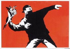 Banksy, 'Love Is In The Air / Flower Thrower (Unsigned)', 2003