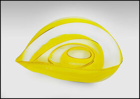 Dale Chihuly, 'Dale Chihuly Original 4 Piece Basket Set Hand Blown Glass Yellow Gold Art Signed', 1998