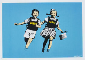 Banksy, 'Police Kids (Jack and Jill)', 2005