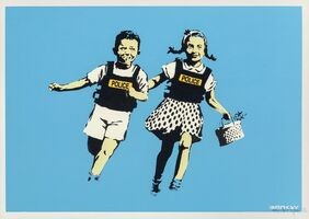 Banksy, 'Jack and Jill (Police Kids)', 2005