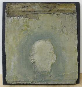Zhang Hongtu, 'Self-Portrait, the back, green', 1989