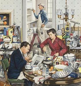 Stevan Dohanos, 'Home Improvement, Saturday Evening Post Cover', 1953