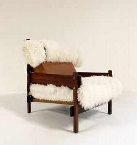 Sergio Rodrigues, 'Sergio Rodrigues for Oca Solid Jacaranda Tonico Chair Restored in Gotland Sheepskin and Loro Piana Italian Buffalo Leather', ca. 1960