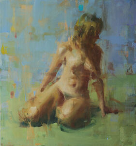David Shevlino, 'Nude on Green', 2010-2015