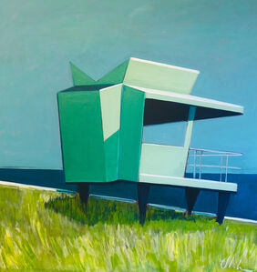 Melissa Chandon, 'Life Guard Station with Grasses', 2019