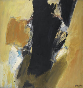 José Guerrero (b. 1914), 'Black and Yellow', 1959