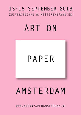 Roger Katwijk at Art on Paper Amsterdam 2018, installation view