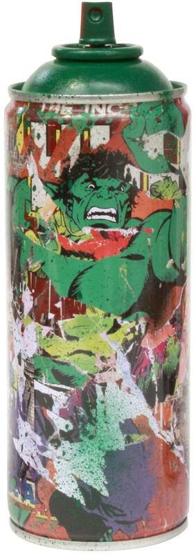 Mr. Brainwash, 'Marvel Spray Can: The Hulk', 2019, Sculpture, Spray paint on streel spray can, Taglialatella Galleries