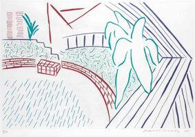 David Hockney, 'My Pool and Terrace', 1983
