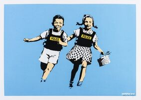 Banksy, 'Jack and Jill (Police Kids) (Signed)', 2005