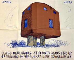 Claes Oldenburg Sidney Janis exhibition poster
