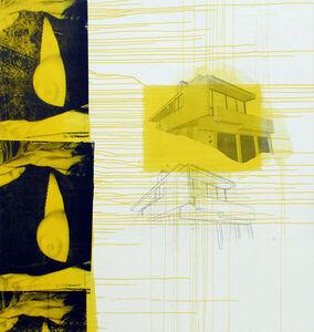 Julião Sarmento, 'Silver Lake Yellow Boob', 2010-2011