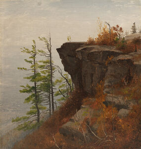 Sanford Robinson Gifford, 'A Ledge in the Catskills', Date Unknown